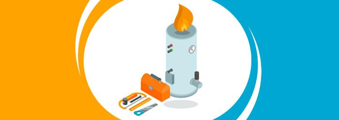 revisión de la caldera de gas natural